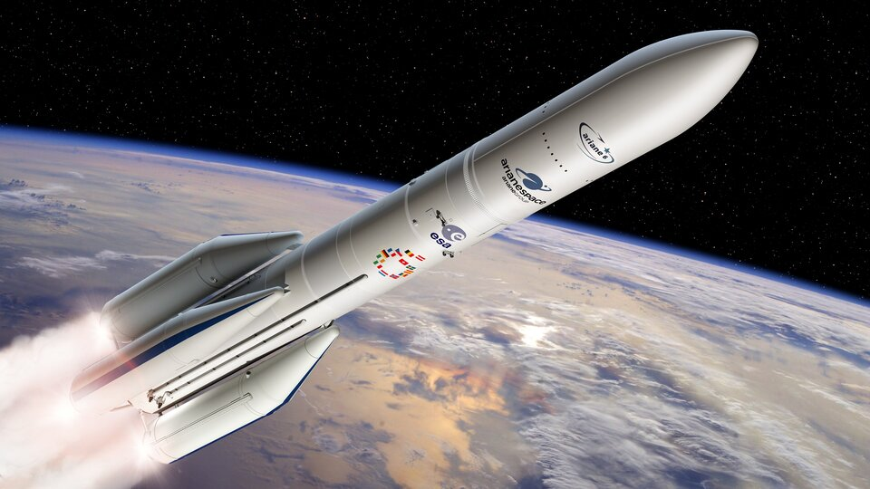 Ariane 6 with four boosters