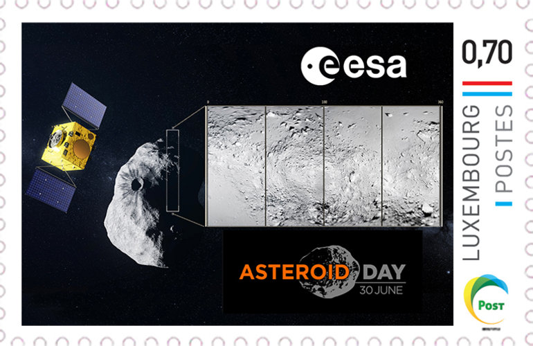 Asteroid Day Stamp