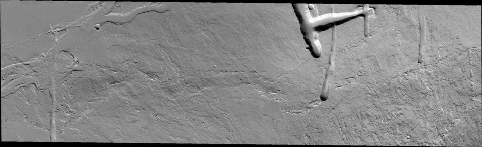 Eastern flank of Olympus Mons