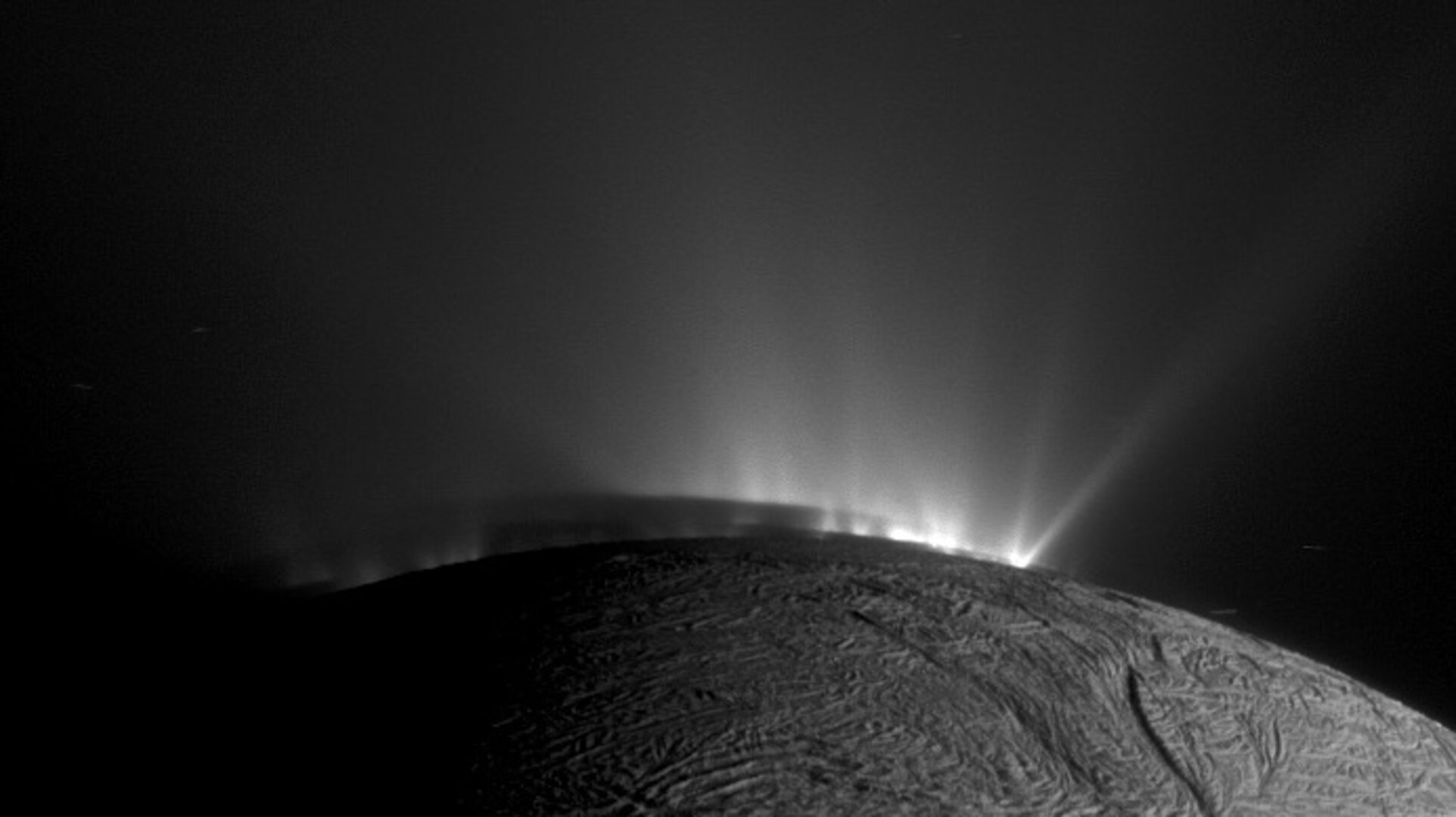 Enceladus jets and shadows