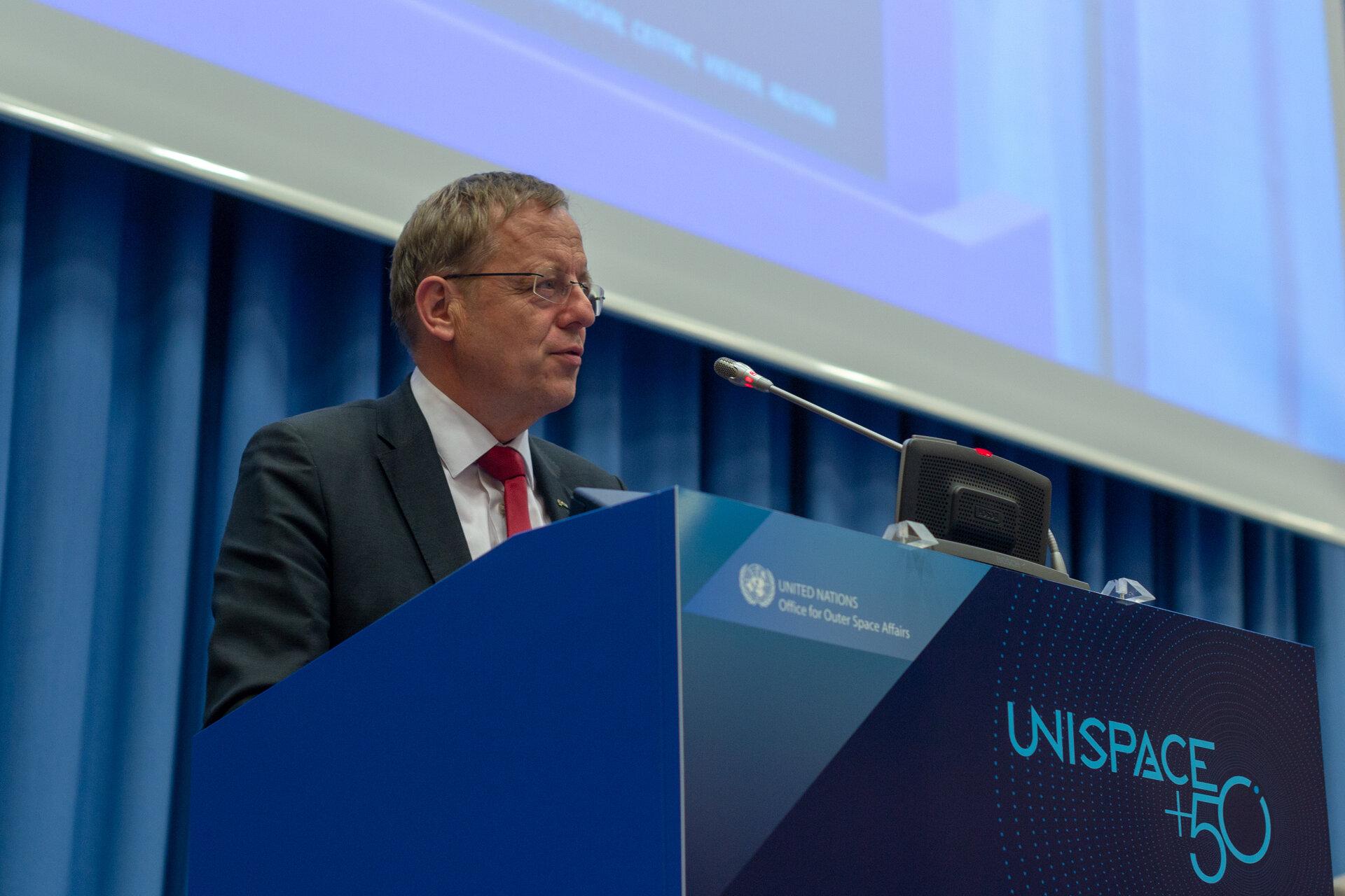 ESA Director General Jan Wörner at UNISPACE+50