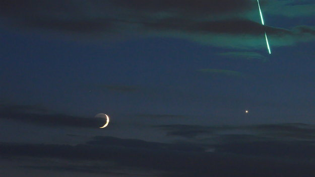 fireball moon venus