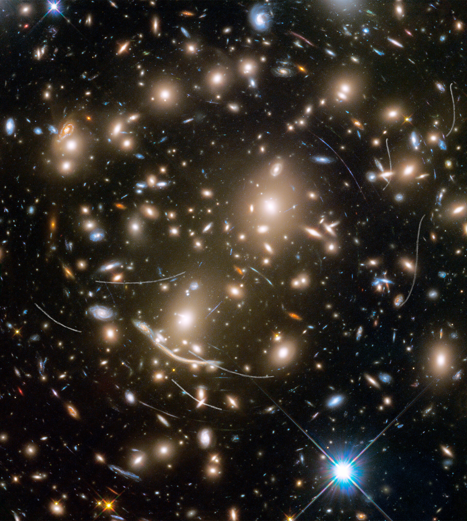 Nearby asteroids photobomb distant galaxies
