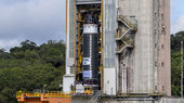 largest ever solid rocket motor poised for first hot firing