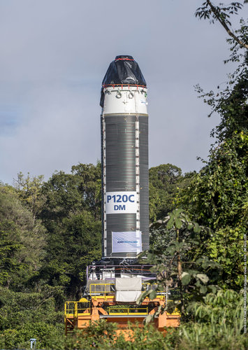 P120C rocket motor transfer to test stand at Europe's Spaceport