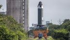 [1/8] P120C rocket motor transfer to test stand at Europe's Spaceport