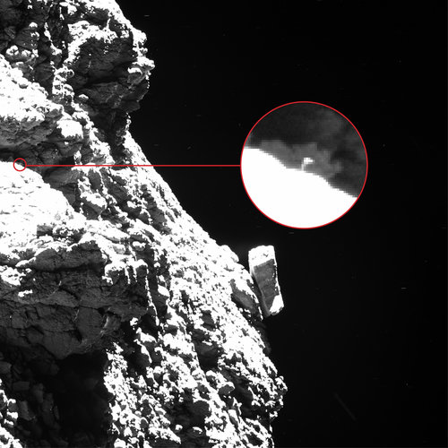 Philae waving – annotated