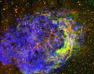 Star-circling bubble of gas