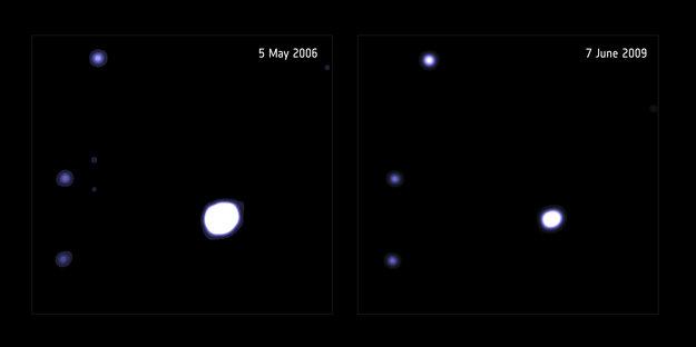 Una estrella, devorada por un tipo de agujero negro poco conocido