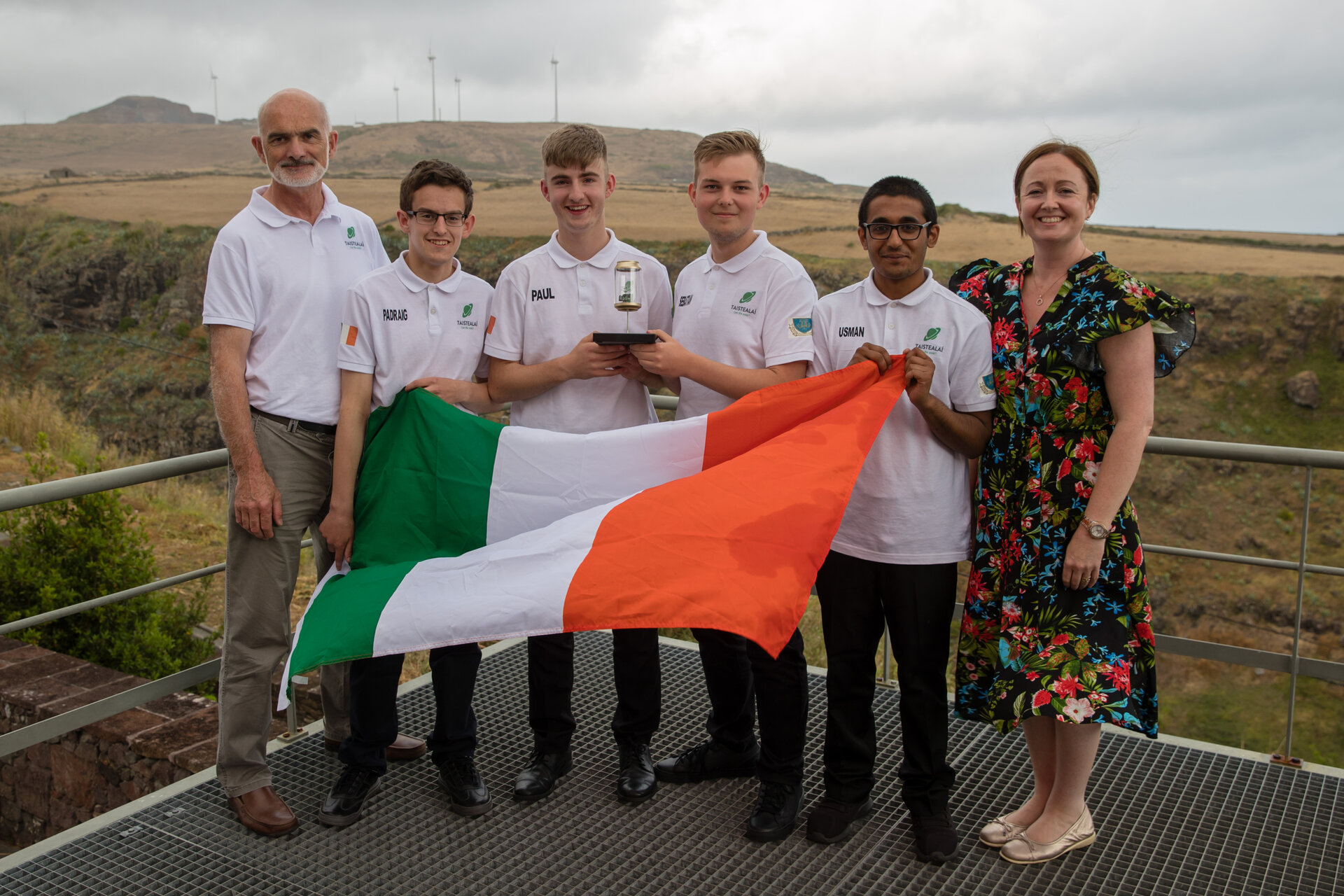 1st prize: Team Taistealai from Marist College Athlone, Ireland!