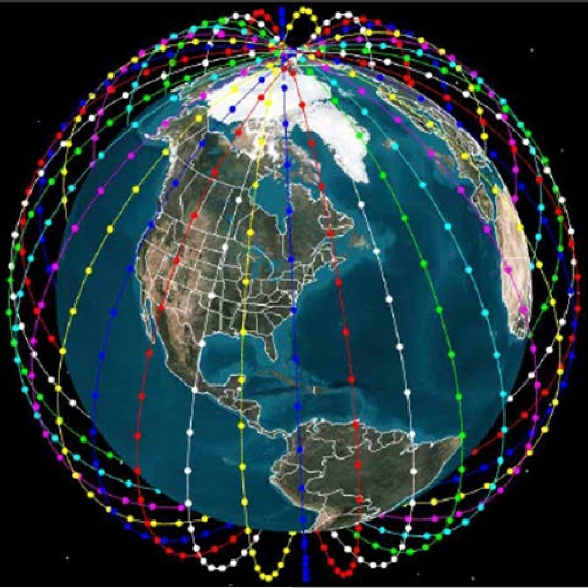 A satellite mega-constellation