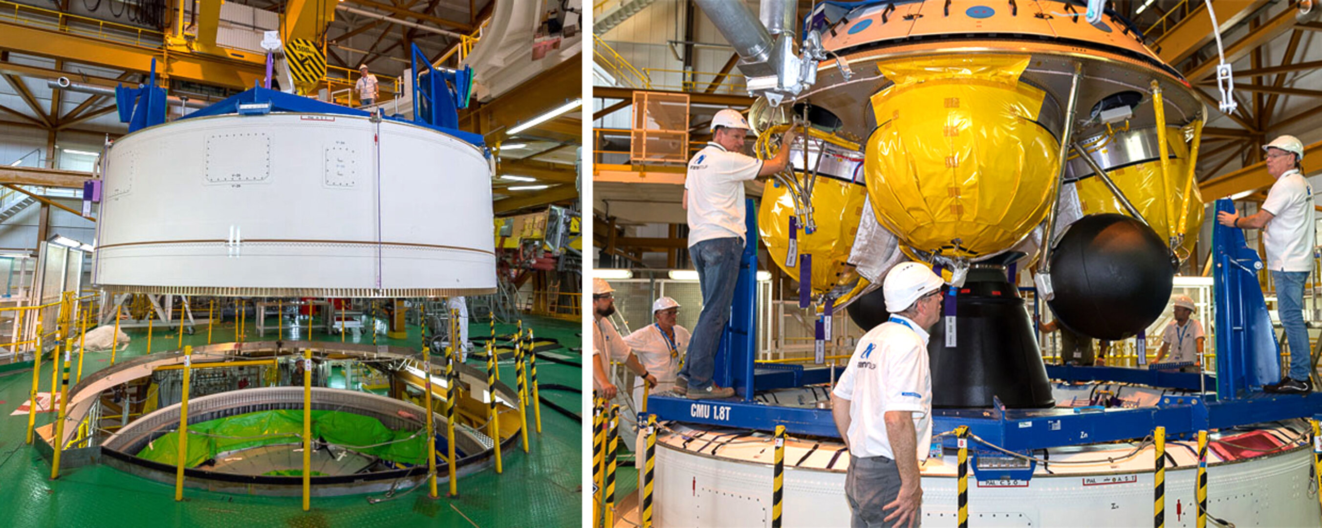Fitting Ariane 5 together