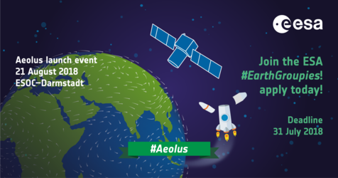 Join #EarthGroupies for the launch of Aeolus