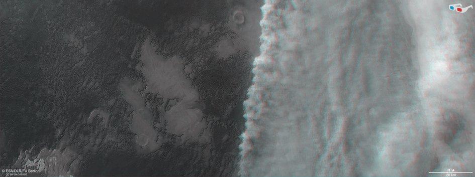 Mars dust storm in 3D