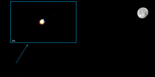 Moon and Mars seen from the International Space Station