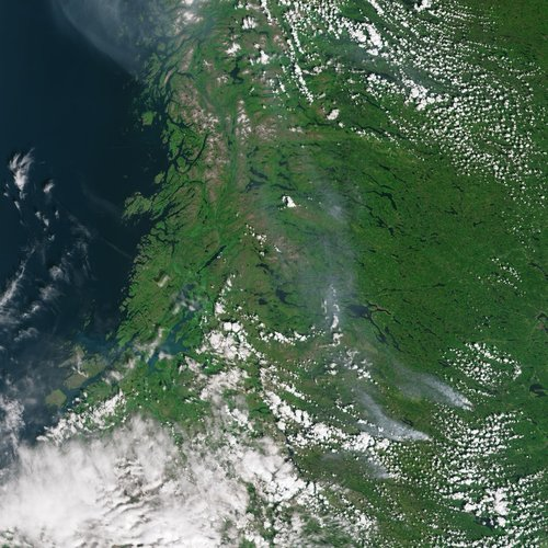 Smoke from fires in Sweden