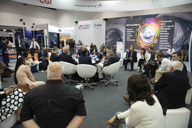 Space Day interactive talks at Farnborough International Airshow 2018