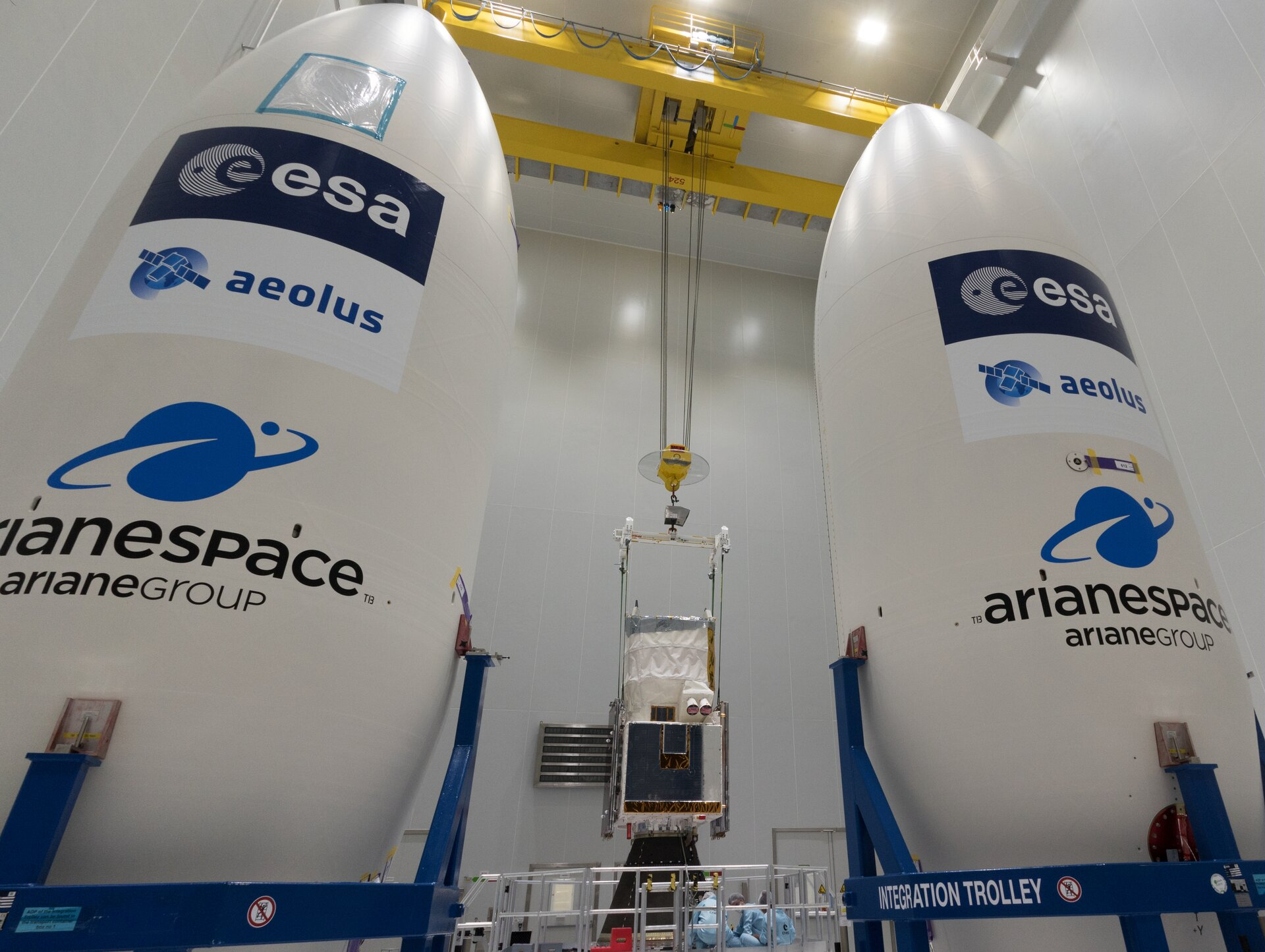 Aeolus and fairing half-shells
