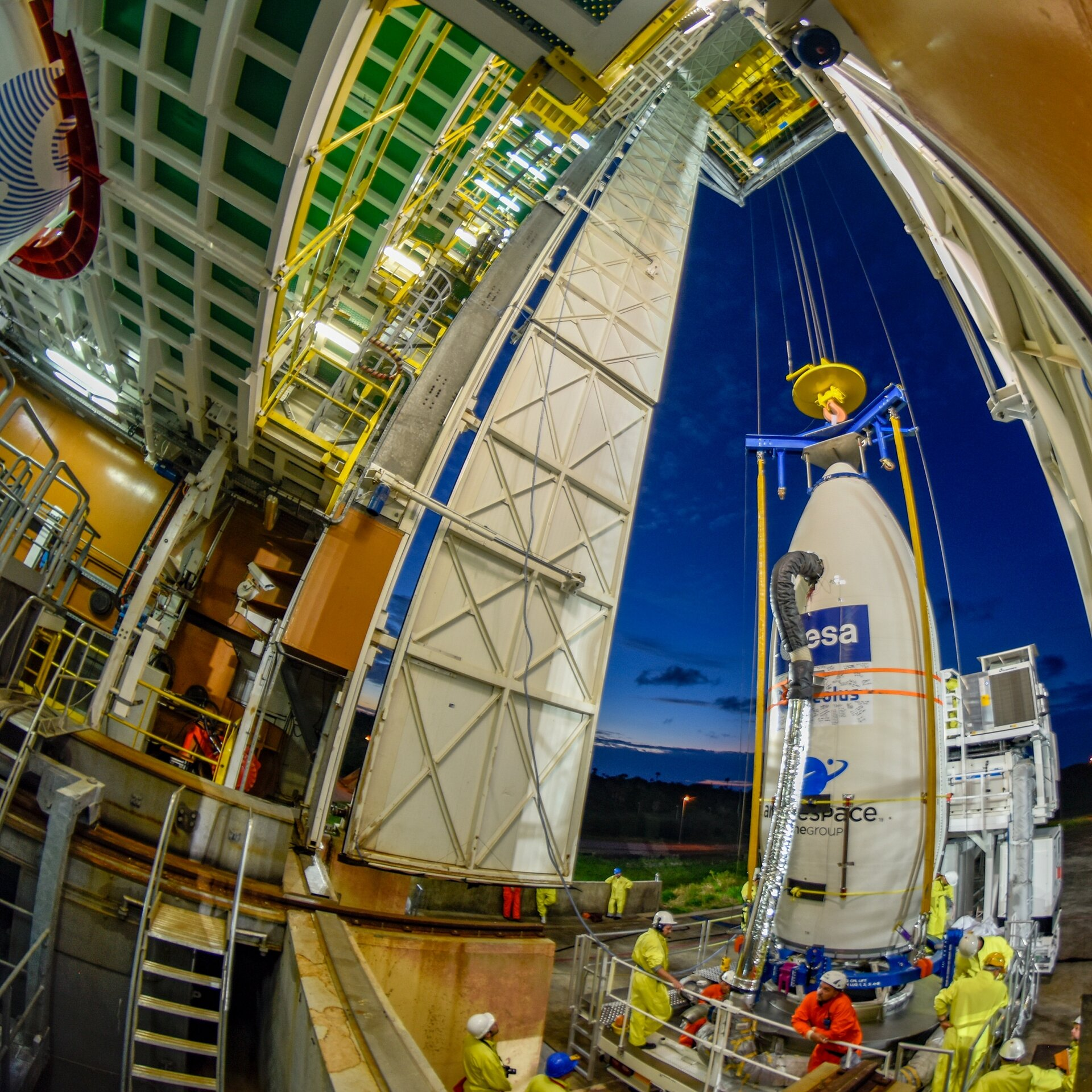 Aeolus arrives at launch tower