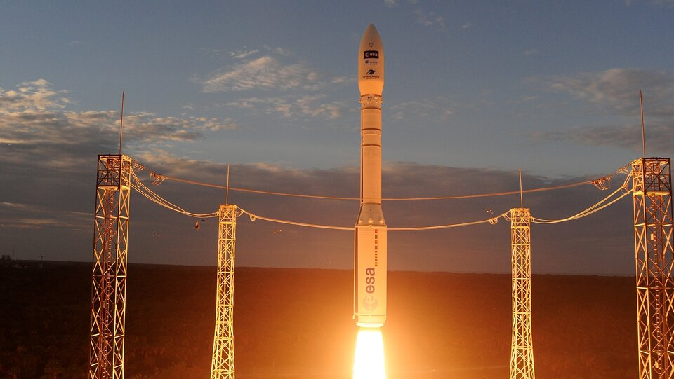 Aeolus lifts off on Vega