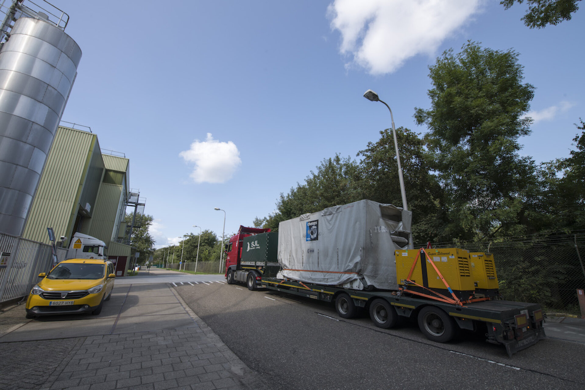 Cheops arrival at ESA's technical centre
