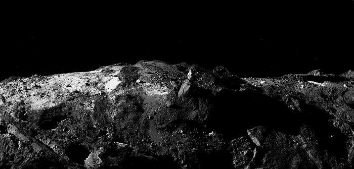 Panorama fra Rosetta af komet 67P/Churyumov-Gerasimenko