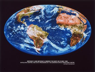 Meteosat-3 and -4 composite view of Earth 16 May 1993