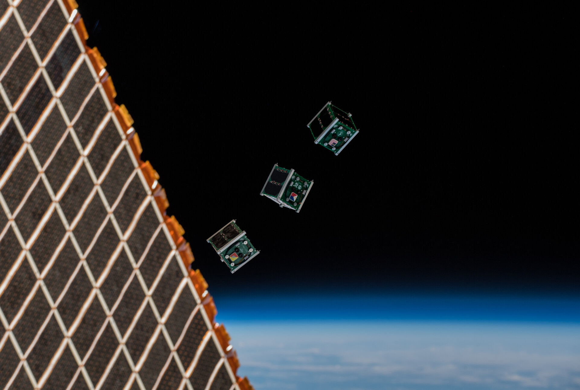 International CubeSats launched from the Space Station