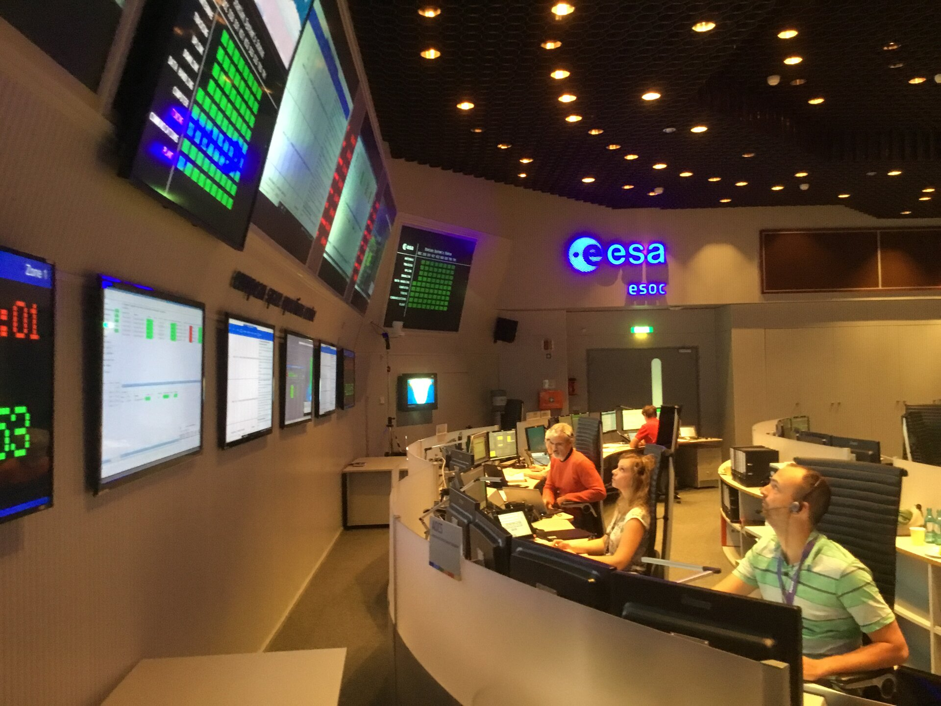 Final Aeolus simulation in ESOC Main Control Room