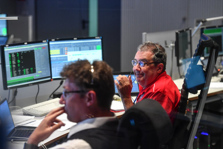 In the Main Control Room during Aeolus launch