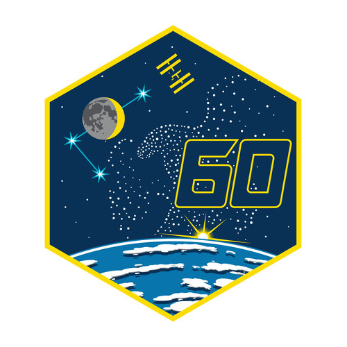 ISS Expedition 60 patch, 2019