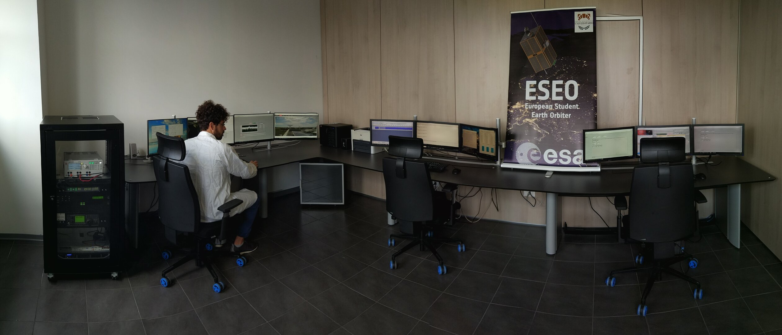 The Mission Control Centre of the Ground Station Bologna