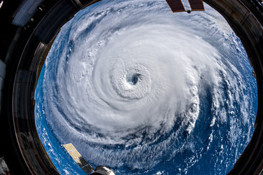 Above Hurricane Florence