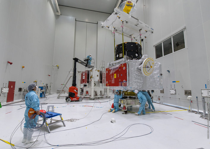 Completing the BepiColombo stack