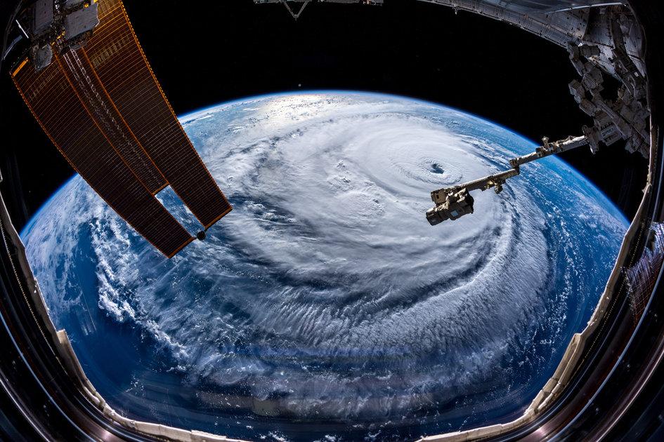 Hurricane Florence wide-angle