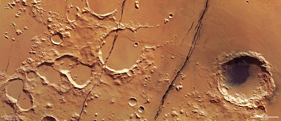 Mars Express view of Cerberus Fossae