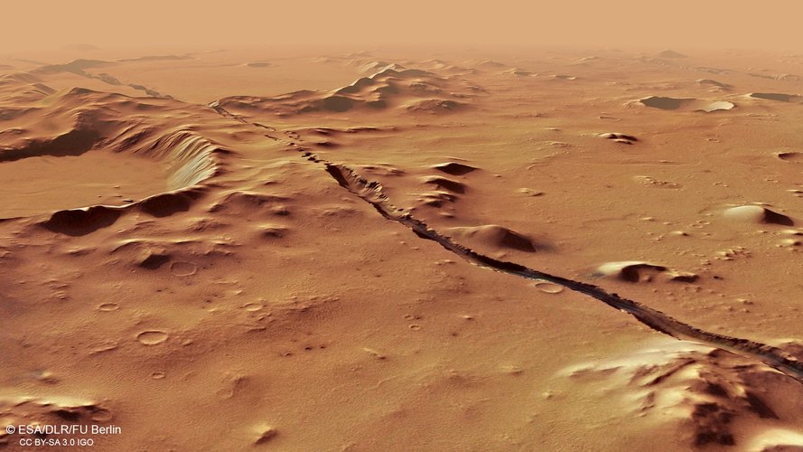 Perspective view of Cerberus Fossae