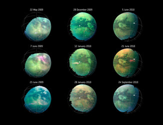 Spotting dust storms on Titan