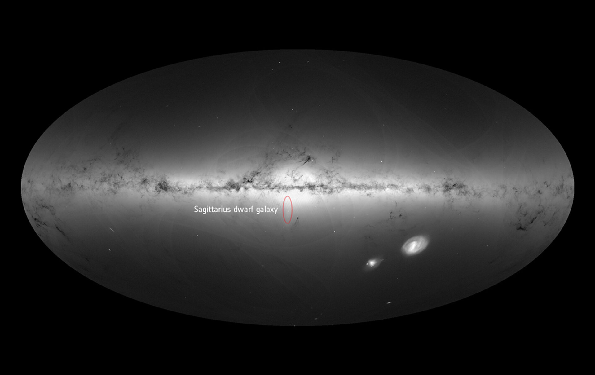 The Sagittarius dwarf galaxy in Gaia's all-sky view