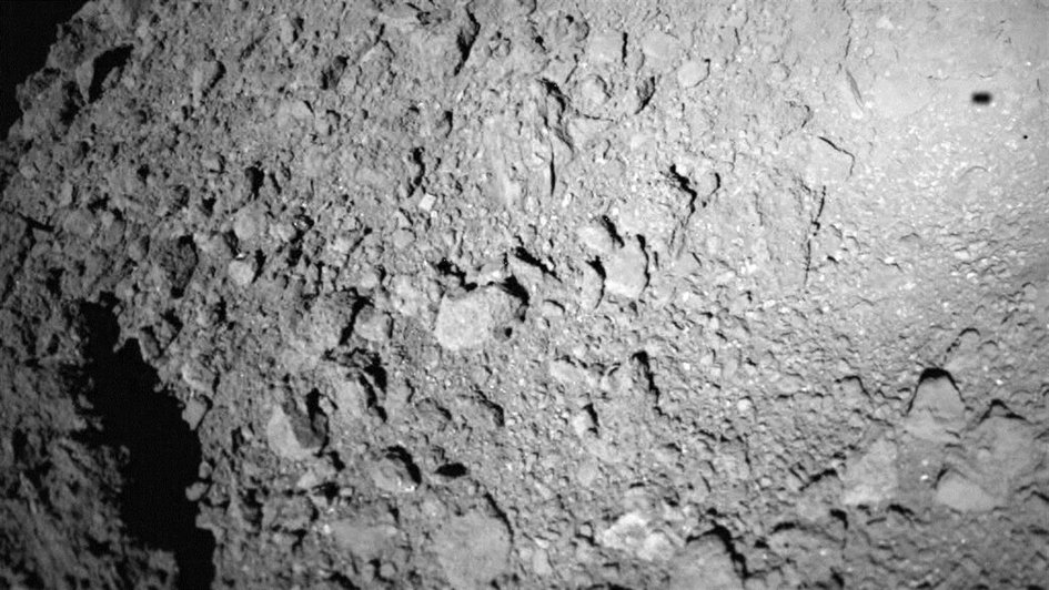 A third box bounced its way across asteroid Ryugu