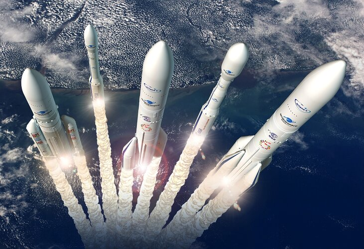 Artist's view of Europe's launcher family