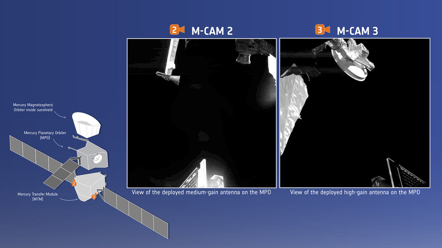 BepiColombo images antennas