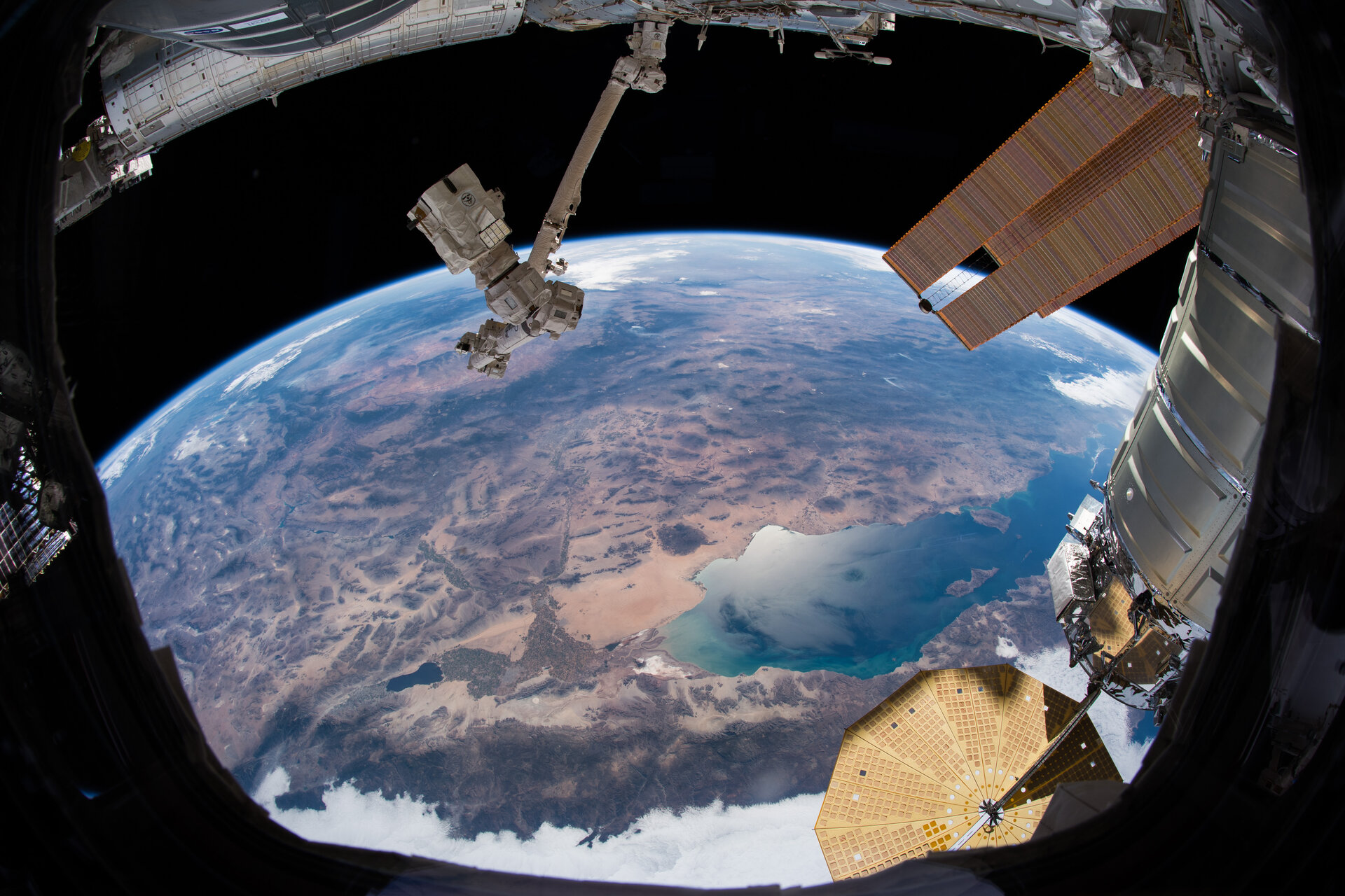 View of California from the cupola of the the International Space Station