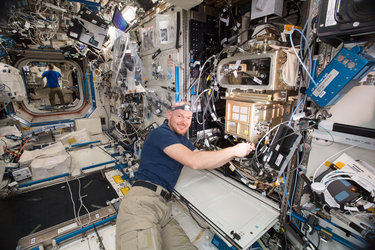 ESA astronaut Alexander Gerst on the Space Station