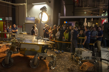 ExoMars rover in Mars Yard at ESA Open Day