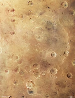 Mars Express plan view of Greeley Crater