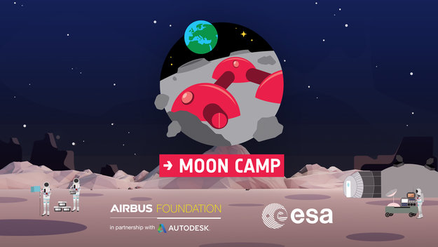 Fusion 360 / Moon Camp / Education / ESA