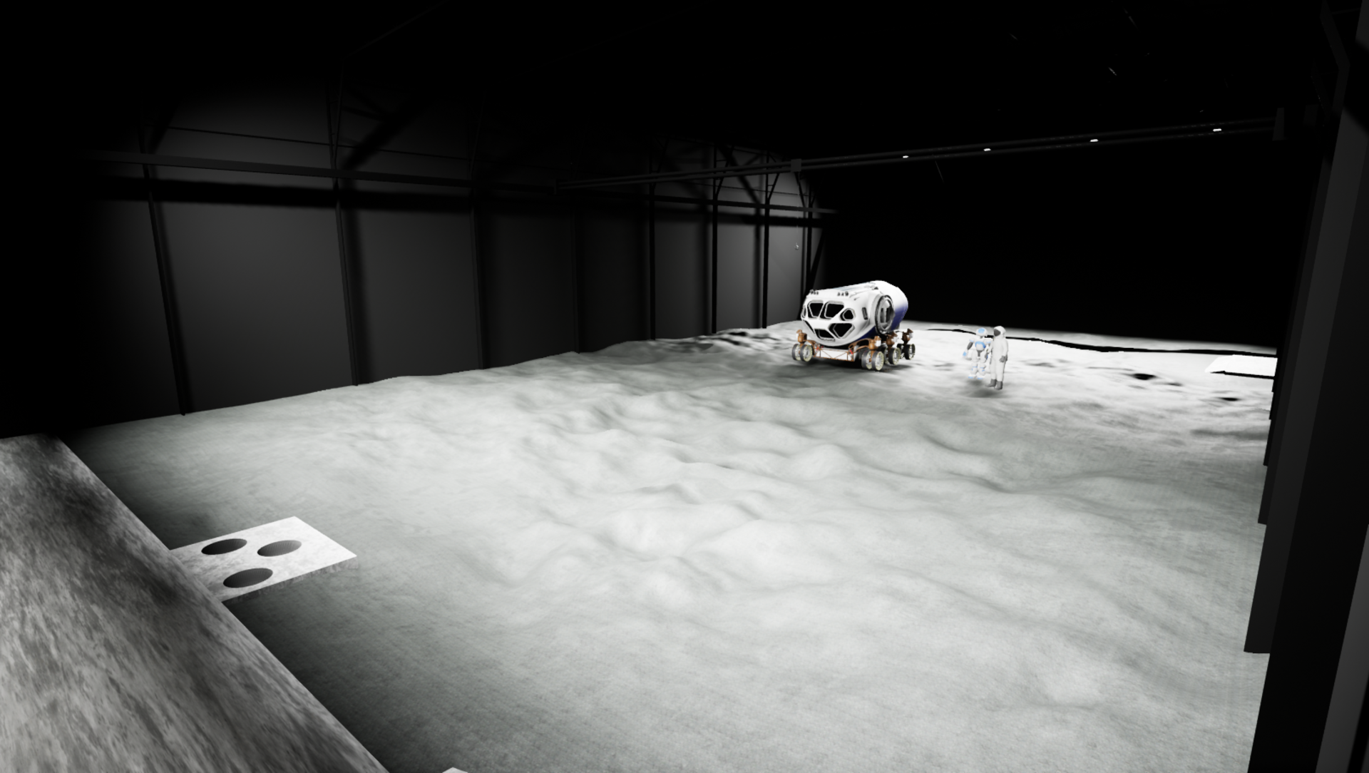 Virtual reality rendering of a LUNA lunar environment.