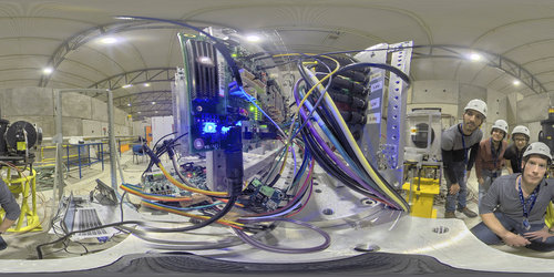 360 view of Myriad 2 testing at CERN