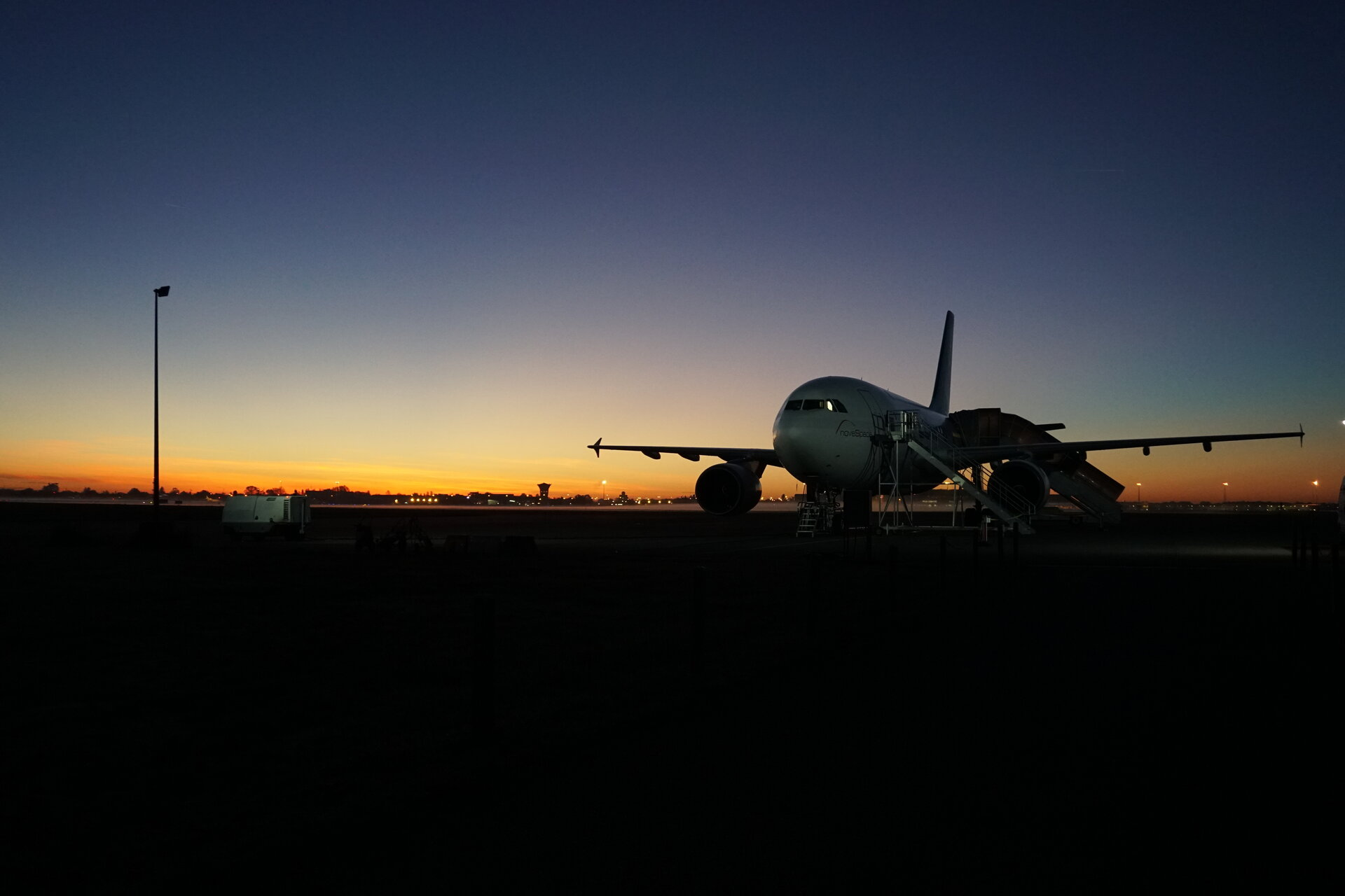 A310 at sunrise